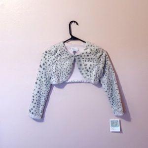 Grey and white Cheetah print sweater